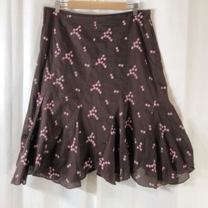 Anthropologie Ruth embroidered floral skirt 12